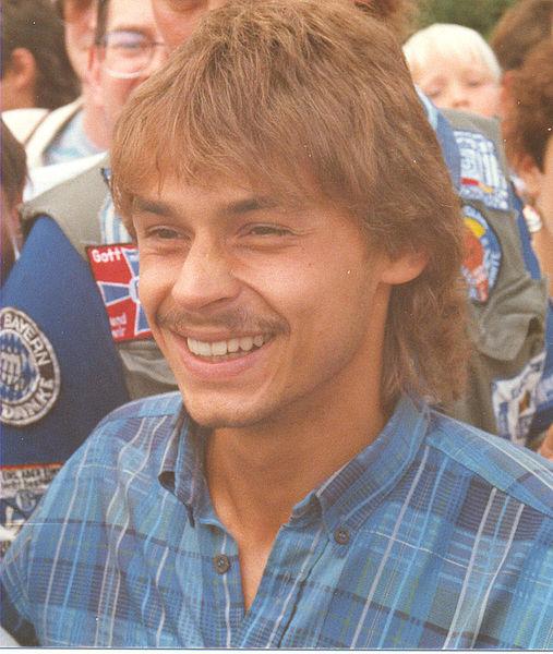 Olaf Thon bei der Saisoneröffnung auf Schalke 1987
